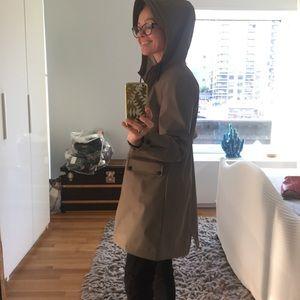 Zara brand new rain coat - dark green grey S